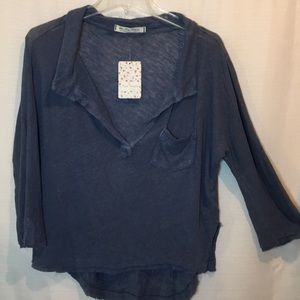 Free People WE THE FREE Slouchy Henley